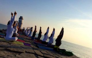 yoga reterat by the sea