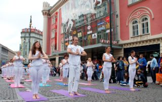 International Day of Yoga in Prague 2015, Central manifestation