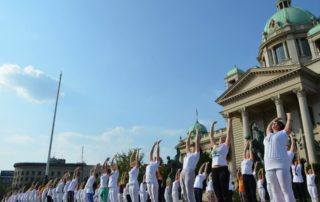 The Great European Yoga Performance in Belgrade 2015