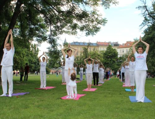 International Day of Yoga in Prague, 2016