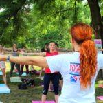 Cvicte jogu s nami v Parku na Kampe 2017