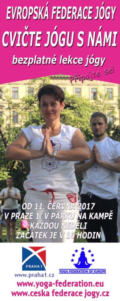 Cvicte jogu s nami v Parku na Kampe, Praha 1 - 2017