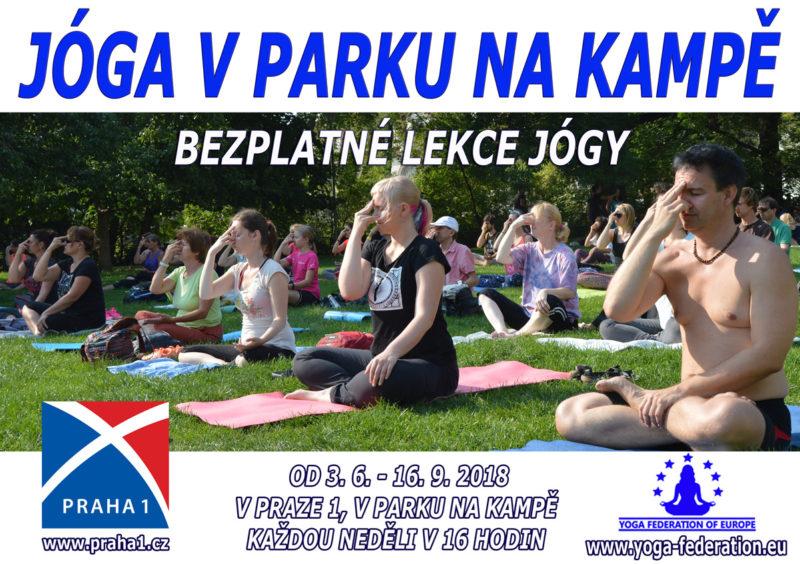 Joga v Parku na Kampe - Cvicte jogu s nami 2018