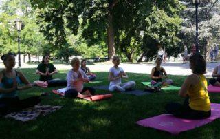 Yoga im Burggarten – Wien 2018