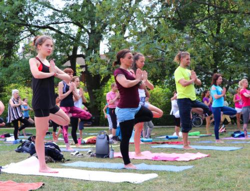 Jóga v Parku na Kampě – Cvičte jógu s námi 2019