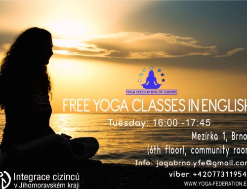 Yoga classes at the Centre for foreigners Brno