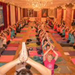 christmas yoga celebration