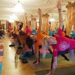 christmas yoga celebration