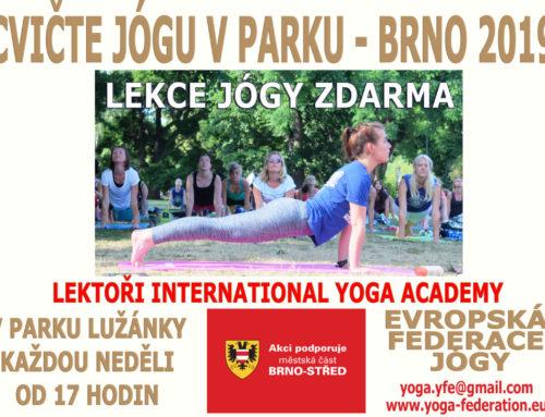 Cvičte jógu s námi v Brně 2019