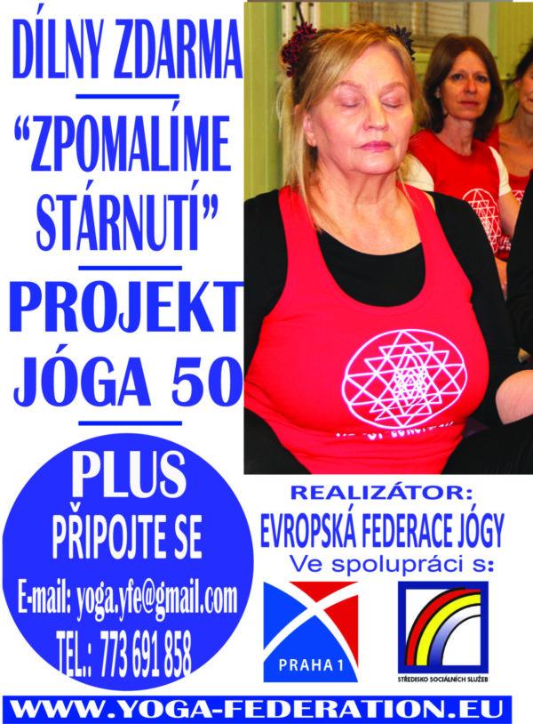 Joga 50 plus - lekce jogy zdarma - Praha 1