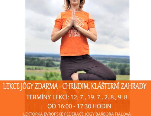 Lekce jógy zdarma v Chrudimi – Cvičte jógu s námi 2020