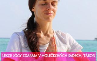Lekce jogy zdarma, Tabor - Cvicte jogu s nami 2020
