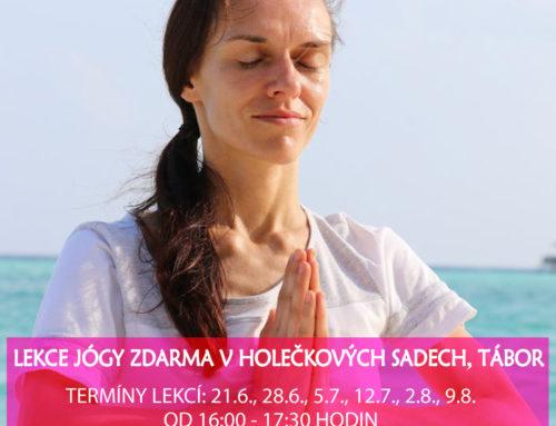 Lekce jógy zdarma v Táboře – Cvičte jógu s námi 2020