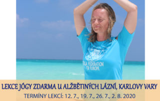 Lekce jogy zdarma - Karlovy Vary