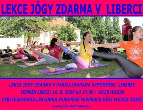 Lekce jógy zdarma v Liberci – Cvičte jógu s námi 2020