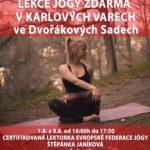 Lekce jogy zdarma, Karlovy Vary 2021